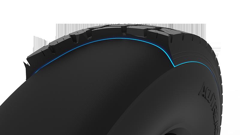 contoured tread mold cure